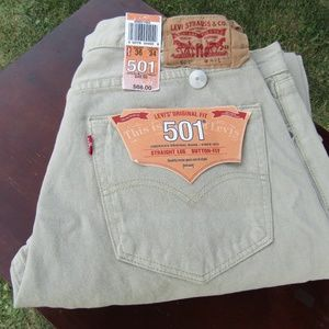 Levi 501 Original Fit 36x 34 Jeans New With Tags .